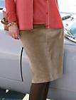 Anna Aura - Nederdel i jernbanefløjl med lynlås i siden