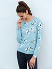 Peter Hahn - Bluse med rund hals af 100% ren ny uld