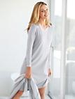 Peter Hahn - Sleep-shirt med V-udskæring af 100% bomuld