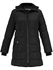 Samoon - Quiltet frakke med hætte