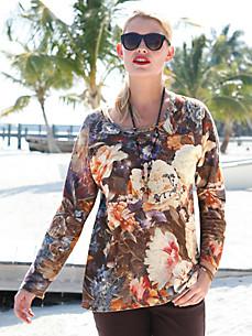 Anna Aura - Sweatshirt med et overdådigt blomstermotiv