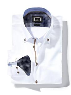 Bugatti - Skjorte med button-down flip