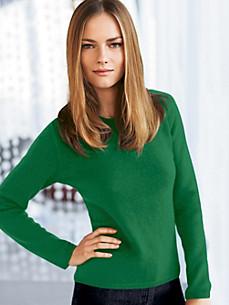 cashmere - Bluse med rund halsudskæring