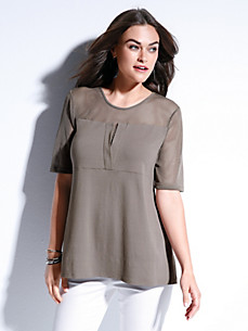 Doris Streich - T-shirt med rund hals og korte ærmer