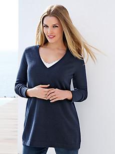 Emilia Lay - V-bluse af 100% kashmir
