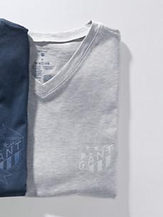 GANT - Natshirt med korte ærmer og V-udskæring