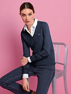 Lacoste - Bluse med V-udskæring og lange ærmer