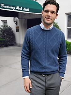 Peter Hahn - Bluse med rund hals