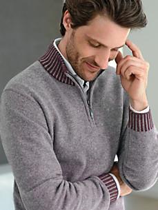 Peter Hahn Cashmere - Bluse i 100% kashmir med standkrave