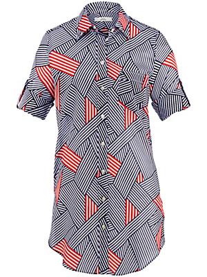 0039 Italy - Bluse med lange ærmer til at smøge op