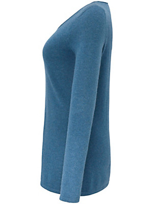 Anna Aura - Bluse med rund hals af 100% kashmir