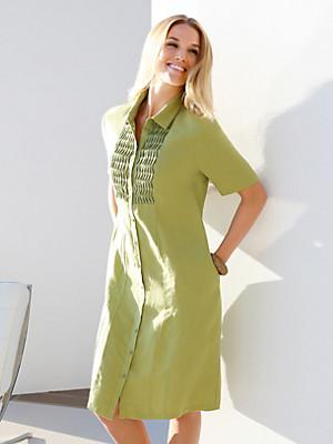 Anna Aura - Skjortekjole med korte ærmer.