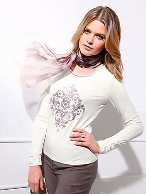Basler - T-shirt med rund hals og satinborter