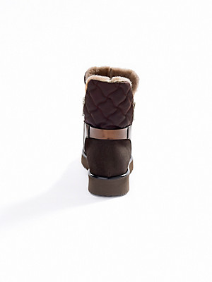 Bogner - Støvletter af kalvenappa med metallic-effekt