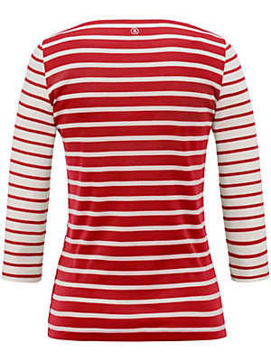 Bogner - T-shirt med bådformet udskæring.