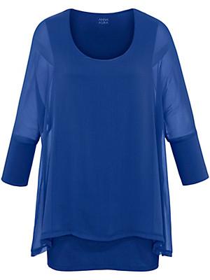 Emilia Lay - Skjortebluse med 3/4-ærmer i lag-på-lag-look
