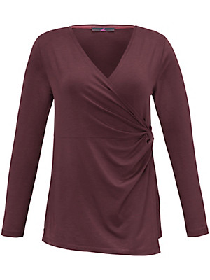 Emilia Lay - T-shirt med dyb V-udskæring