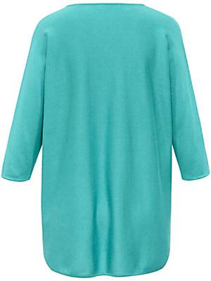 Emilia Lay - V-bluse med 3/4 ærmer