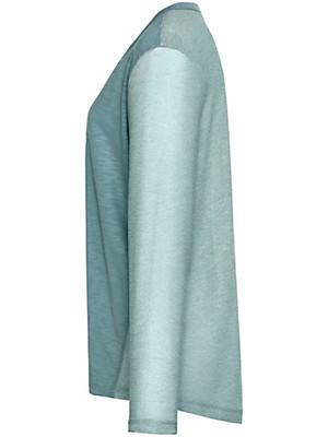 FRAPP - Bluse med V-udskæring