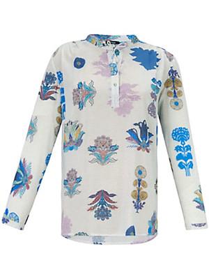 FRAPP - Skjorte med superflotte blomstermotiver