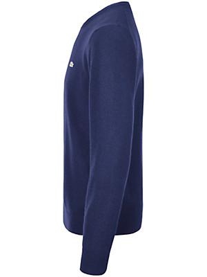 Lacoste - Bluse med rund hals af 100% uld