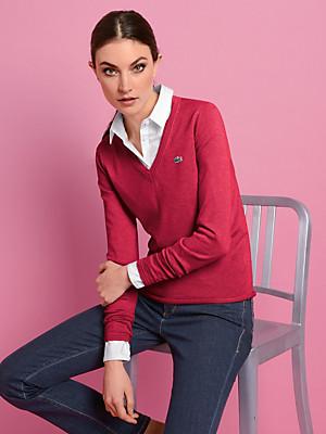 Lacoste - Bluse med V-udskæring og lange ærmer.