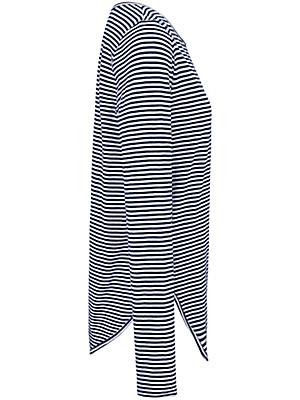 LIEBLINGSSTÜCK - Stribet shirt med broderet skrift