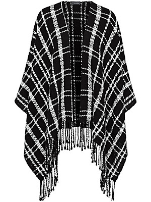 Looxent - Poncho af 100% ren ny uld