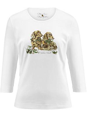 Münchner Manufaktur - Shirt med rund hals og 3/4 ærmer