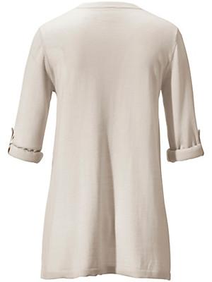 Peter Hahn - 3/4-ærmet V-bluse i ren ny uld