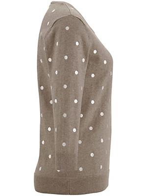 Peter Hahn - Bluse med rund hals og 3/4-ærmer