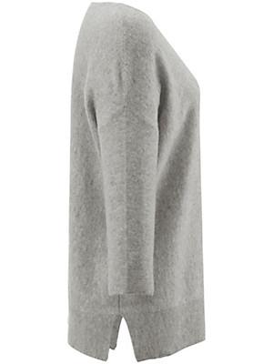 Peter Hahn Cashmere - Bluse med rund hals af 100% kashmir