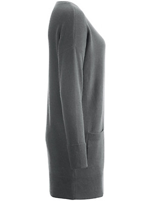 Peter Hahn Cashmere - Strikbluse med rund hals af ren kashmir