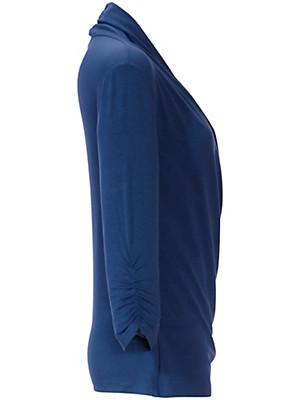 Peter Hahn - Flatterende bluse med V-udskæring