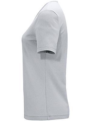 Peter Hahn - Kortærmet bluse med rund hals