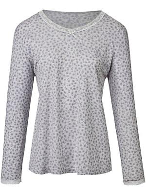 Peter Hahn - Shirt med V-udskæring af 100% bomuld