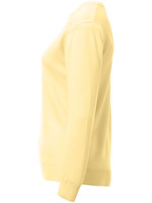 Peter Hahn - Strikbluse m/rund hals i ren uld