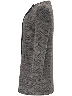 Samoon - Kort frakke med smart dessin