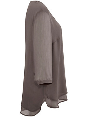 Samoon - Løs bluse m. 3/4-ærmer