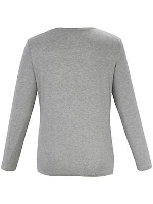 Samoon - Stribet shirt med skinnende striber