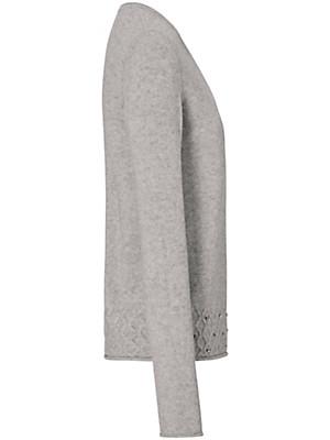Uta Raasch - Bluse med rund hals af 100% kashmir