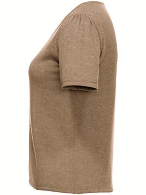 Uta Raasch - Strikbluse med rund hals og korte ærmer.