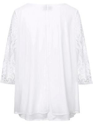zizzi - Bluse med ærmer af blonde