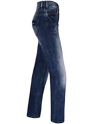 """zizzi - Jeans """"Nille Slim"""" med knaplukning"""