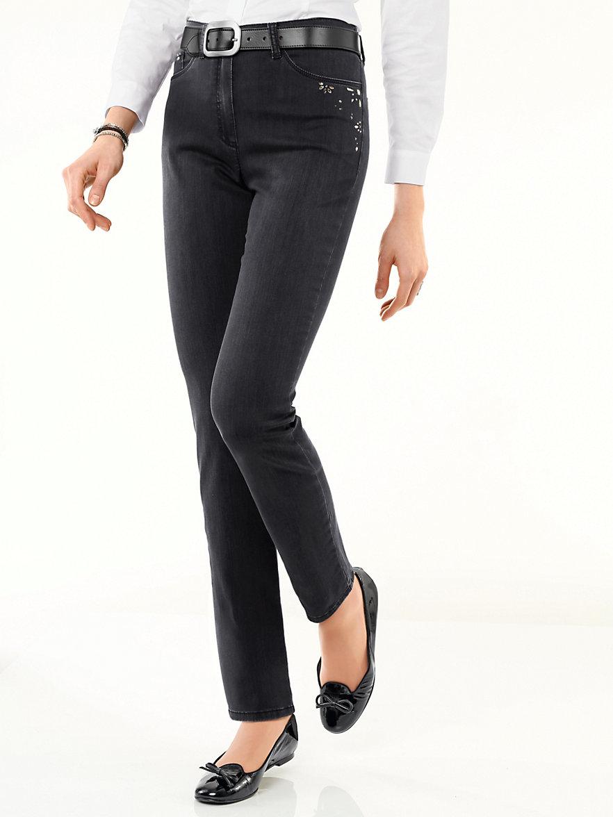 raphaela by brax jeans sort denim. Black Bedroom Furniture Sets. Home Design Ideas