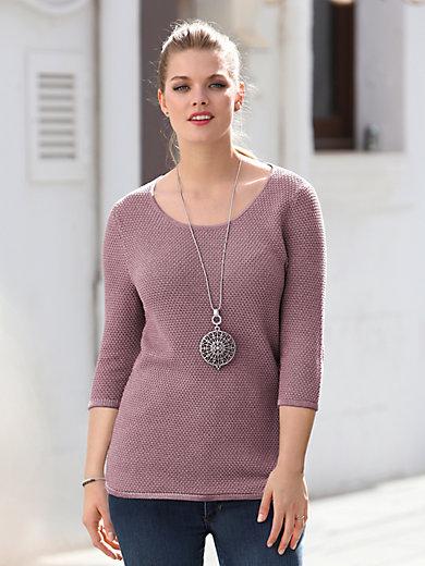 Anna Aura - Bluse med rund hals og 3/4-ærmer