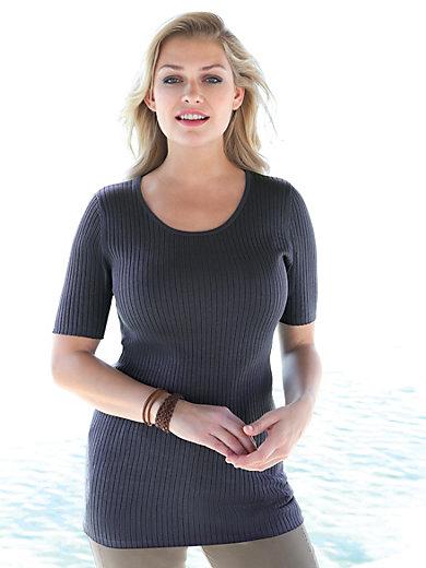 Anna Aura - Strikbluse m. rund hals - model RITA