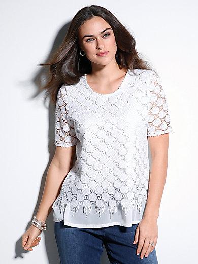 Emilia Lay - T-shirt med rund hals og 1/2-lange ærmer