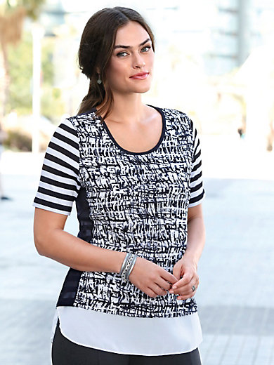 Emilia Lay - T-shirt med rund hals og korte ærmer
