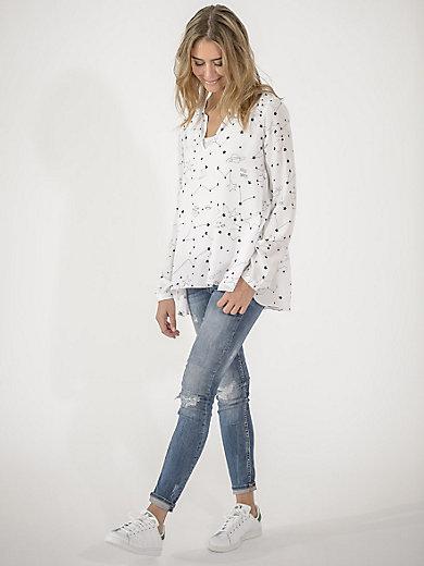 LIEBLINGSSTÜCK - Viskose-bluse i A-snit og V-udskæring